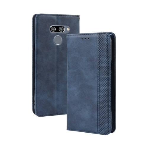 FORCELL BUSINESS Peňaženkový obal LG Q60 / LG K50 modrý