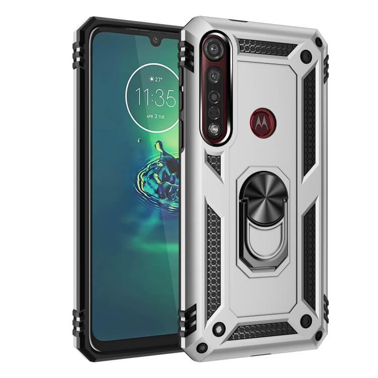 FORCELL RING Ochranný obal Motorola Moto G8 Plus stříbrný