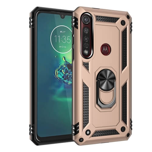 FORCELL RING Ochranný obal Motorola Moto G8 Plus zlatý
