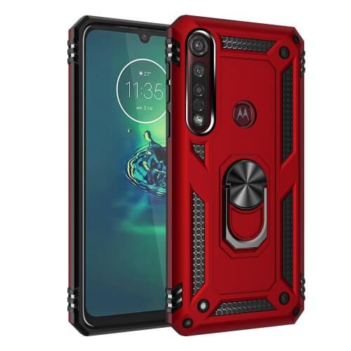 FORCELL RING Ochranný obal Motorola Moto G8 Plus červený