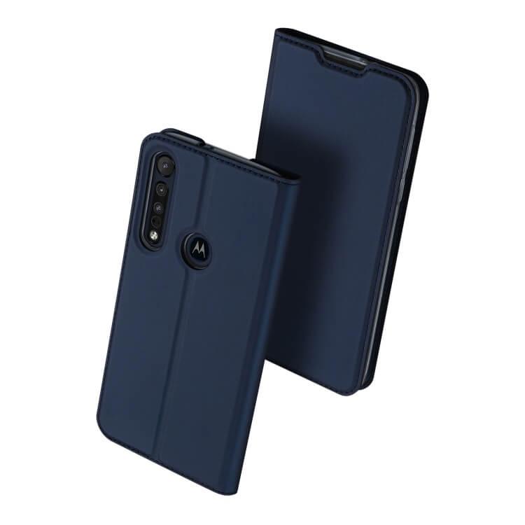 DUX Peňaženkový obal Motorola Moto G8 Plus modré