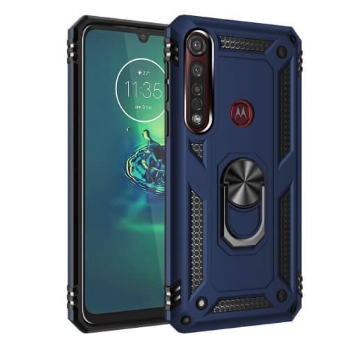FORCELL RING Ochranný obal Motorola Moto G8 Plus modrý