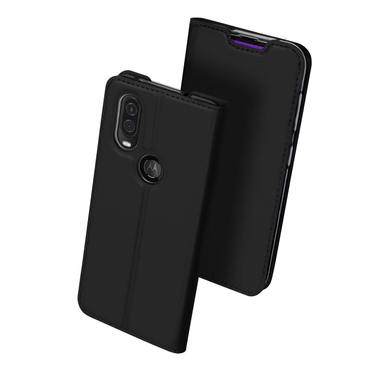 DUX Peňaženkové puzdro Motorola One Vision čierne