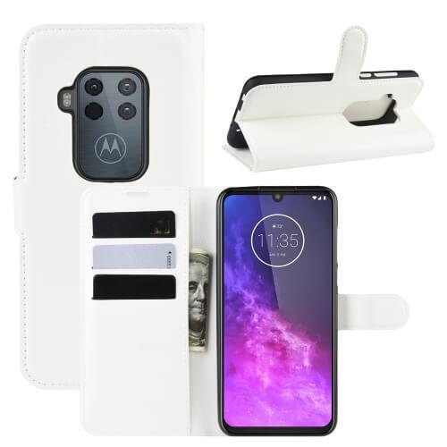 FORCELL Litchi Peňaženkové pouzdro Motorola One Zoom bílé
