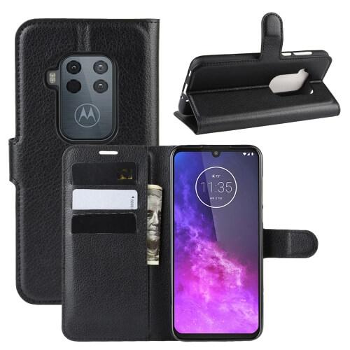 FORCELL Litchi Peňaženkové pouzdro Motorola One Zoom černé
