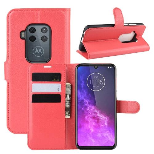 FORCELL Litchi Peňaženkové pouzdro Motorola One Zoom červené