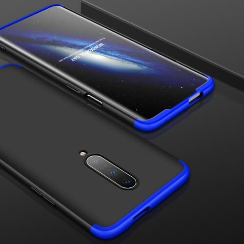 Levně FORCELL 360 ° Ochranný obal OnePlus 7 Pro černý-modrý