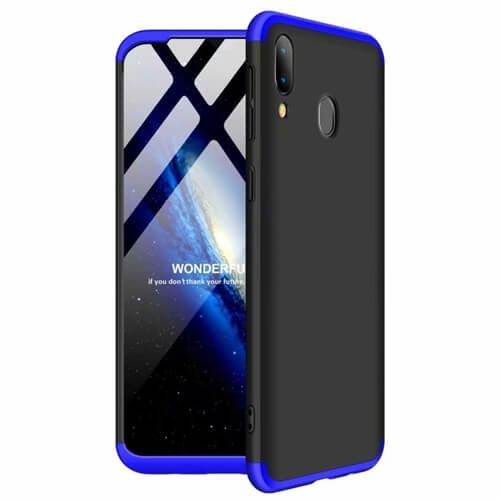 FORCELL 360 ° Ochranný obal Samsung Galaxy A40 černý-modrý