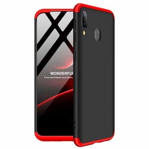 FORCELL 360 ° Ochranný obal Samsung Galaxy A40 černý-červený