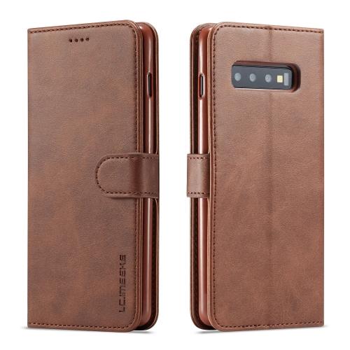 IMEEKE Peňaženkový obal Samsung Galaxy S10 Plus hnědý