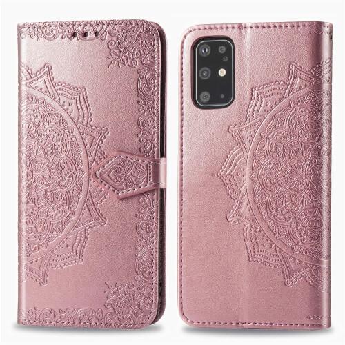 FORCELL ART Peňaženkový kryt Samsung Galaxy S20 Plus ORNAMENT růžový