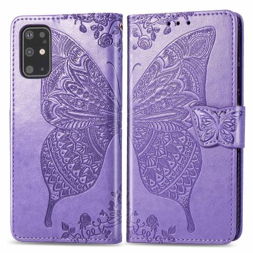 FORCELL ART Peňaženkový kryt Samsung Galaxy S20 Plus BUTTERFLY fialový