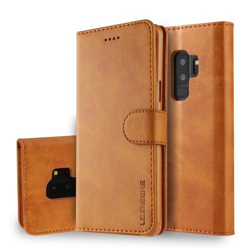 IMEEKE Peňaženkový obal Samsung Galaxy S9 Plus světlehnědý