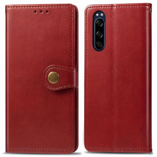 FORCELL ELEGANT Peňaženkový obal Sony Xperia 5 červený