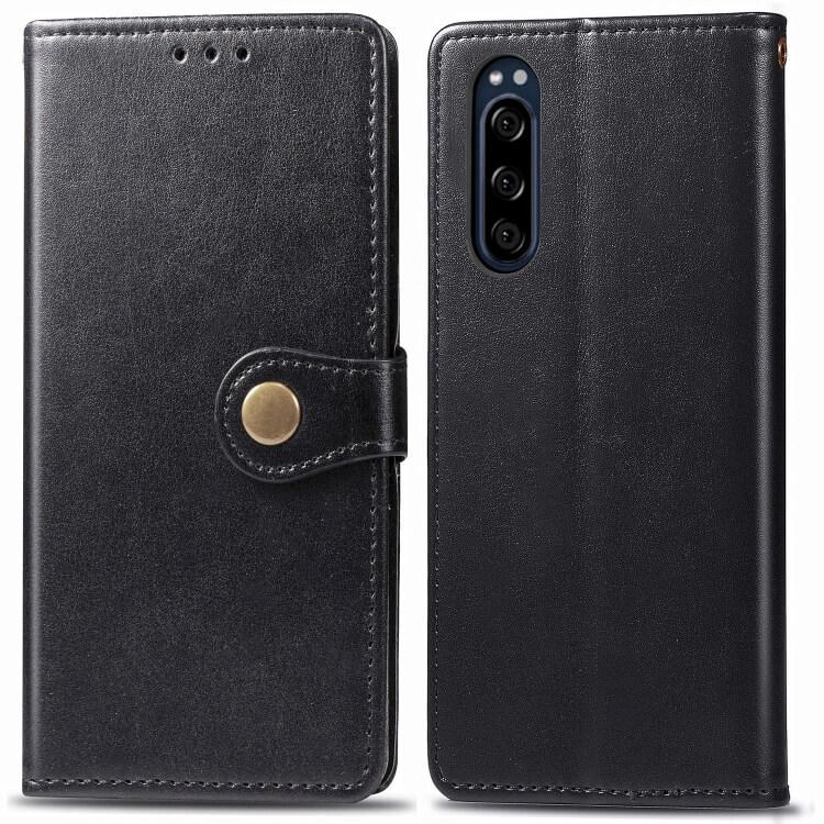 FORCELL ELEGANT Peňaženkový obal Sony Xperia 5 černý