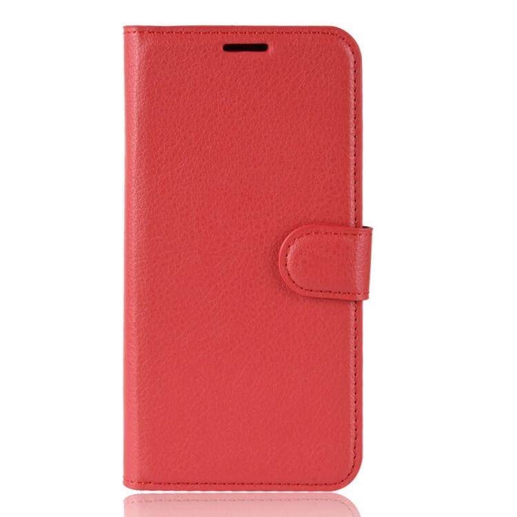 FORCELL Litchi Peňaženkové pouzdro Asus Zenfone Max (M1) ZB555KL červené