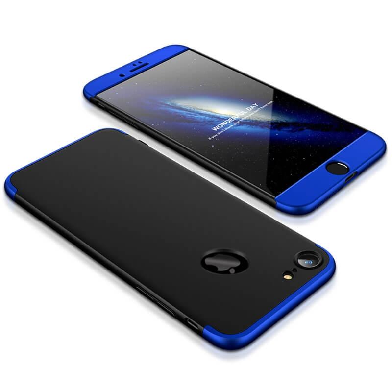FORCELL 360 ° Ochranný obal Apple iPhone 6   6S černo-modrý d34651742f8