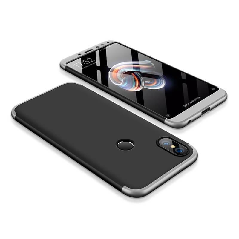 FORCELL 360° kryt Xiaomi Redmi Note 5 černý (stříbrný)