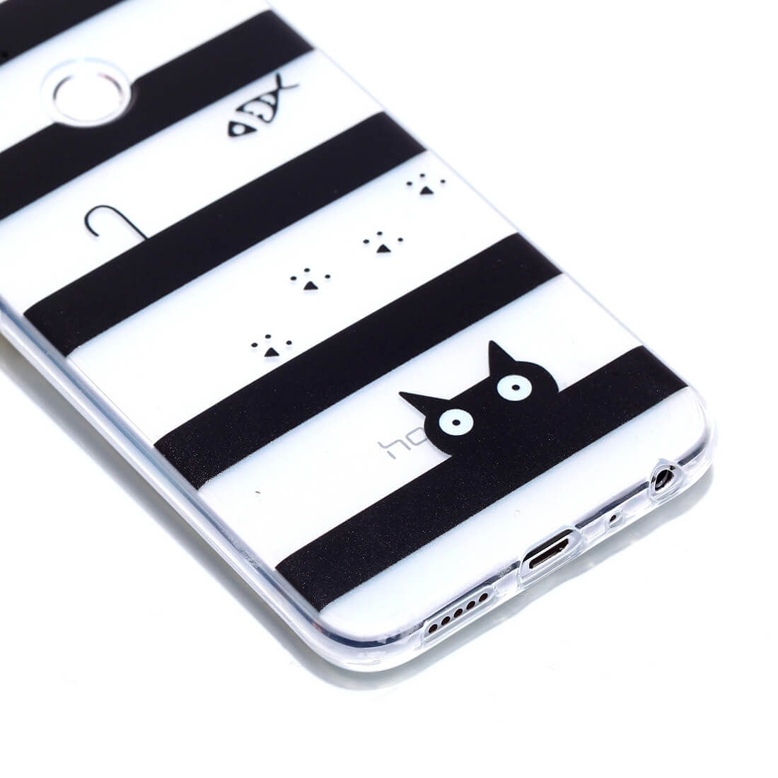FORCELL ART TPU ochranný obal Honor 9 Lite BLACK CAT