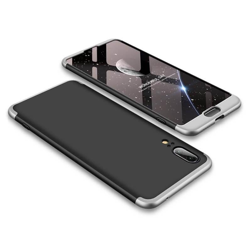 FORCELL 360 ° kryt Huawei P20 černý (stříbrný)