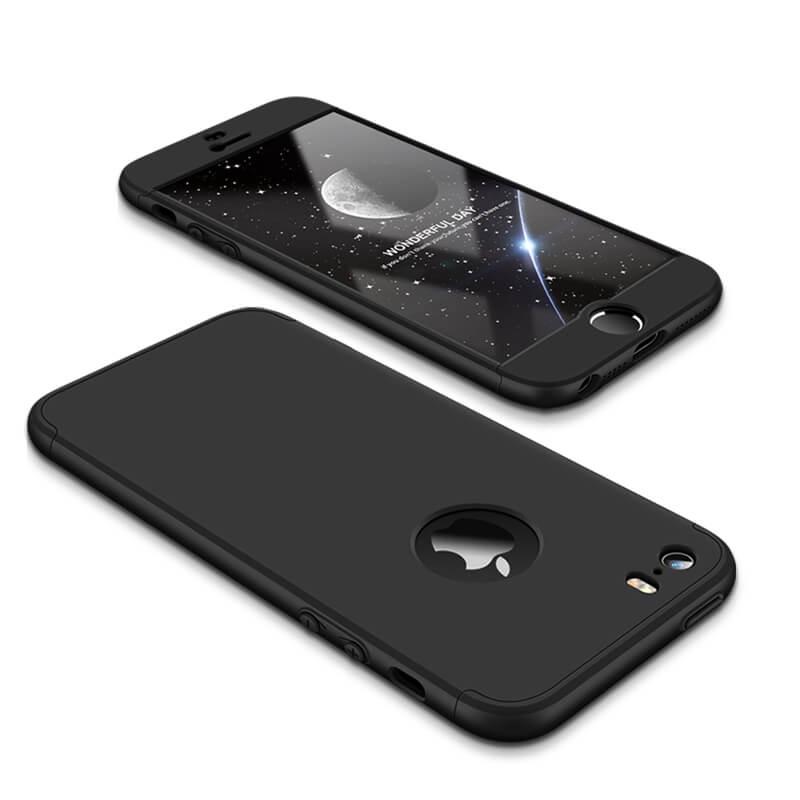 FORCELL 360 ° Ochranný obal Apple iPhone 5 / 5S / SE černý