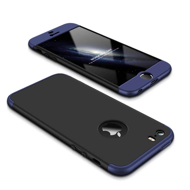 FORCELL 360 ° Ochranný obal Apple iPhone 5   5S   SE černo-modrý 54e9bb55adc