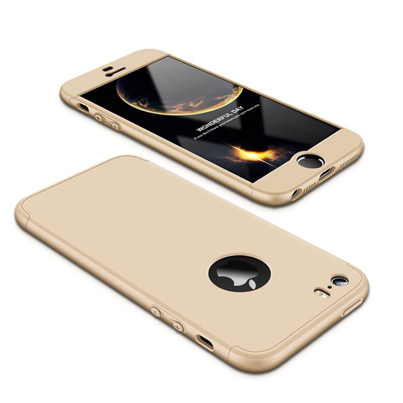 FORCELL 360 ° Ochranný obal Apple iPhone 5 / 5S / SE zlatý