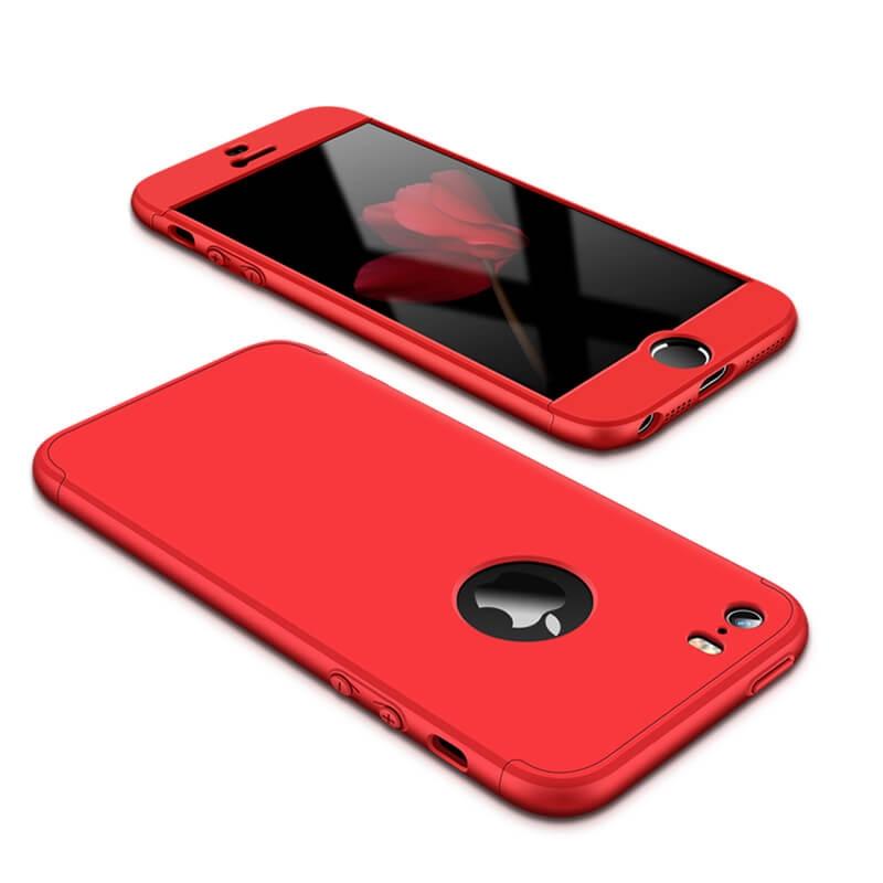 FORCELL 360 ° Ochranný obal Apple iPhone 5 / 5S / SE červený