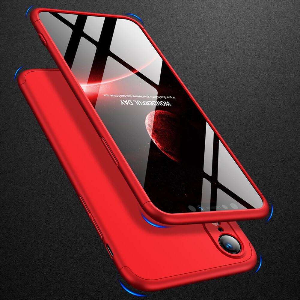 FORCELL 360° ochranný obal Apple iPhone XR červený