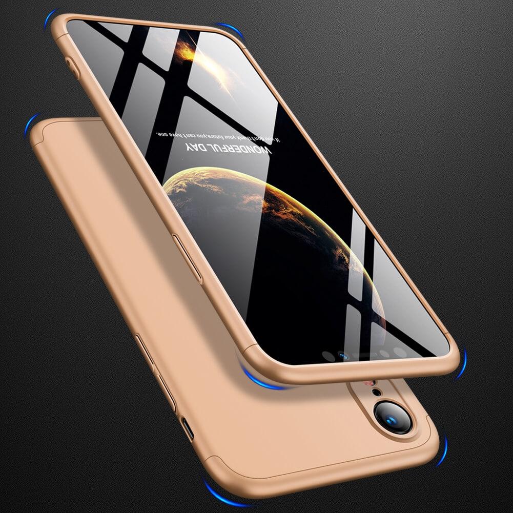 FORCELL 360° ochranný obal Apple iPhone XR zlatý
