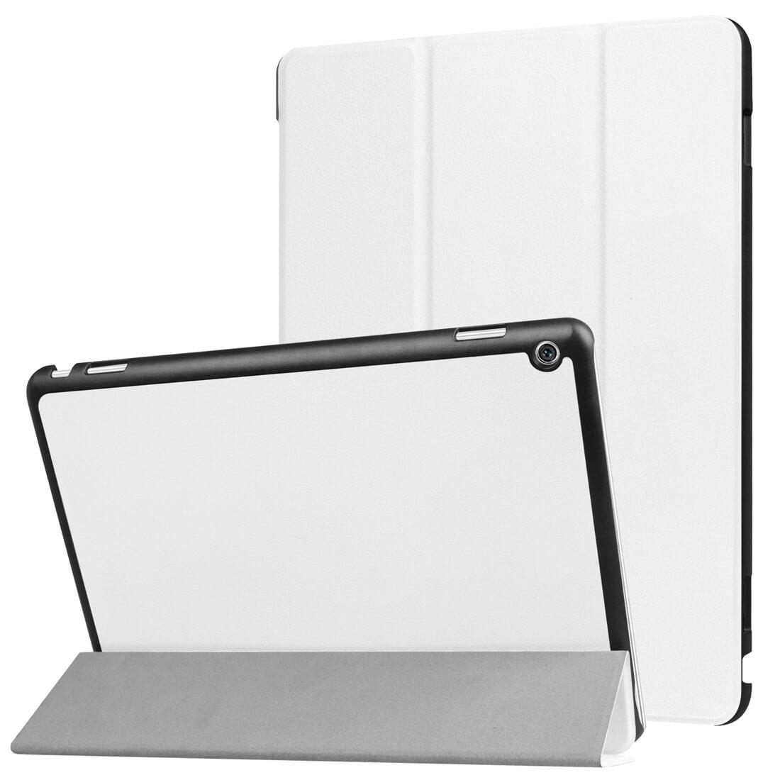 """FORCELL LEATHER zaklapovací obal Huawei MediaPad M3 Lite 10 """"bílý"""