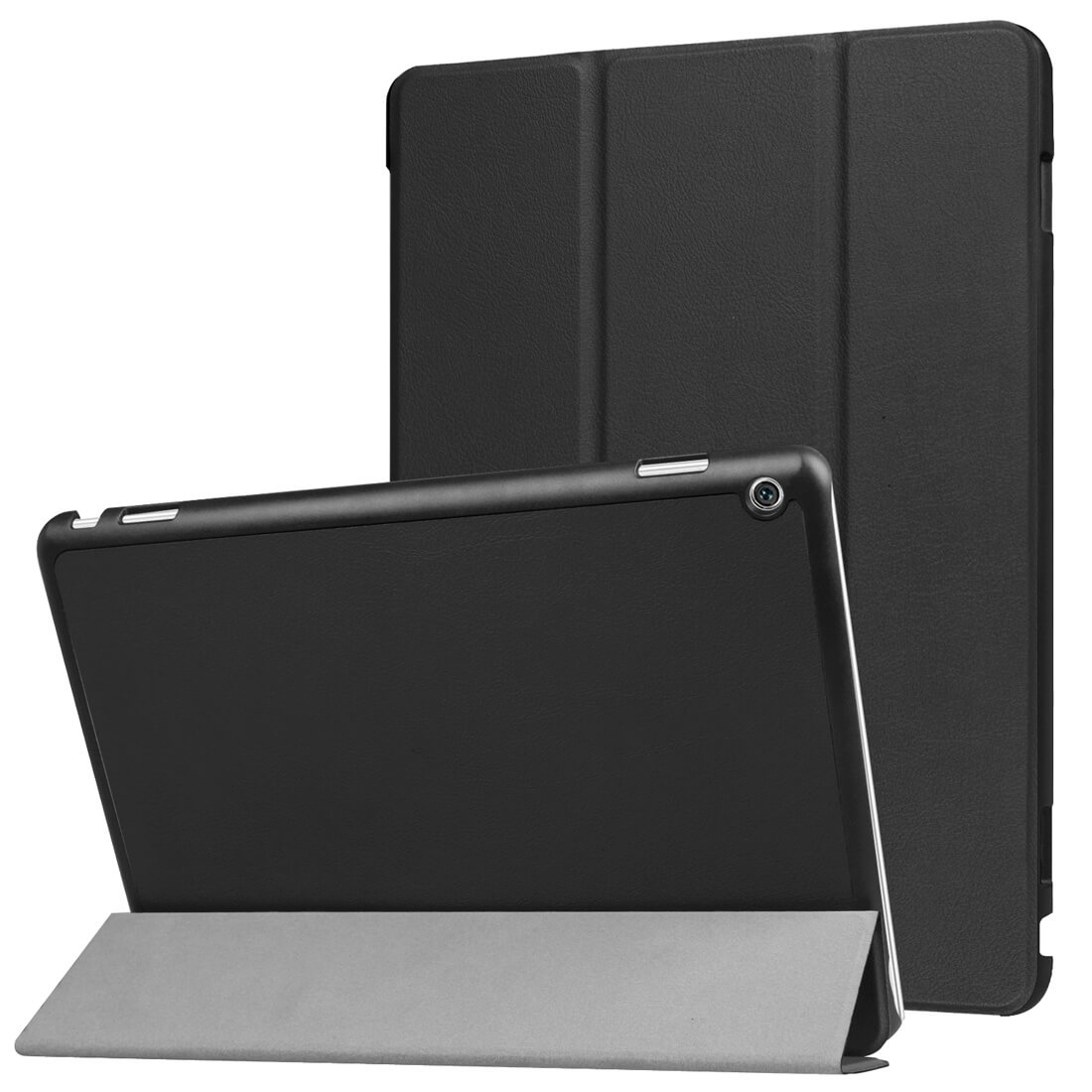 """FORCELL LEATHER zaklapovací obal Huawei MediaPad M3 Lite 10 """"černý"""