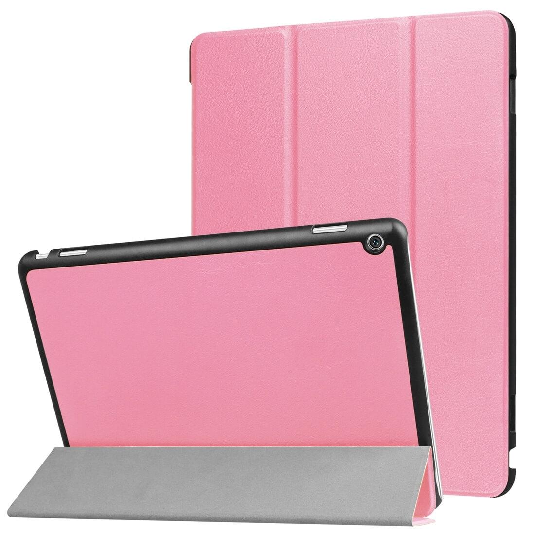 """FORCELL LEATHER zaklapovací obal Huawei MediaPad M3 Lite 10 """"růžový"""