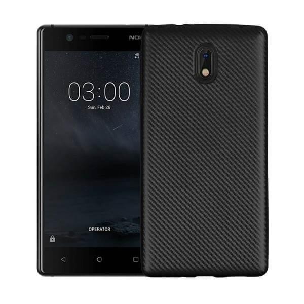 FORCELL FIBER Ochranný kryt Nokia 3 čierny