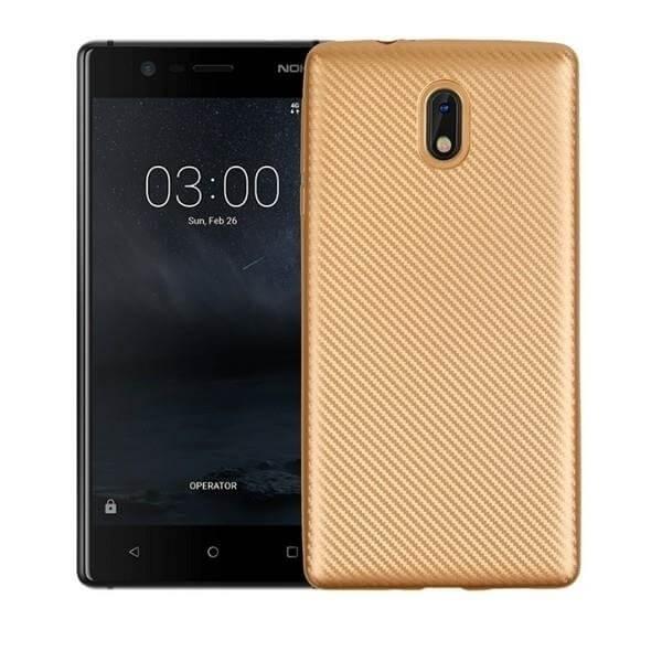 FORCELL FIBER Ochranný kryt Nokia 3 zlatý