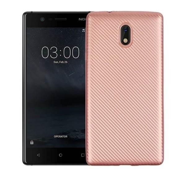 FORCELL FIBER Ochranný kryt Nokia 3 ružový