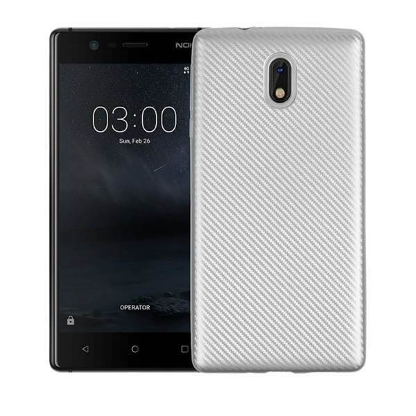 FORCELL FIBER Ochranný kryt Nokia 3 strieborný