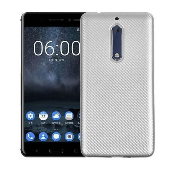 FORCELL FIBER Ochranný kryt Nokia 5 strieborný