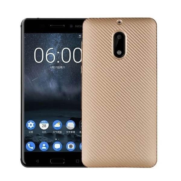 FORCELL FIBER Ochranný kryt Nokia 6 zlatý