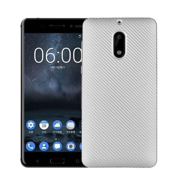 FORCELL FIBER Ochranný kryt Nokia 6 strieborný