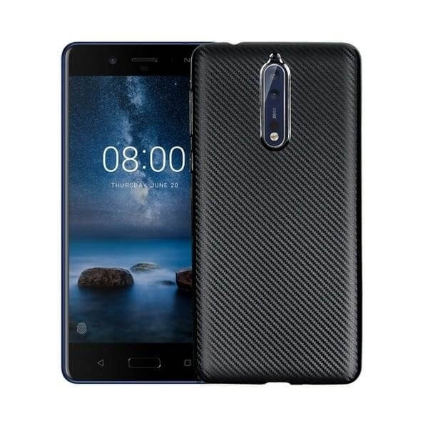 FORCELL FIBER Ochranný kryt Nokia 8 čierny