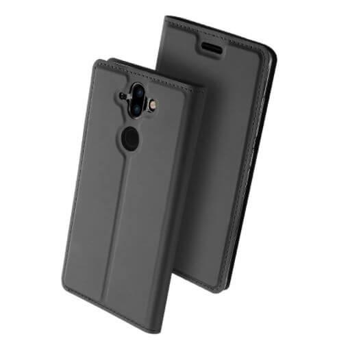 DUX Flipové púzdro Nokia 8 Sirocco / Nokia 9 šedé