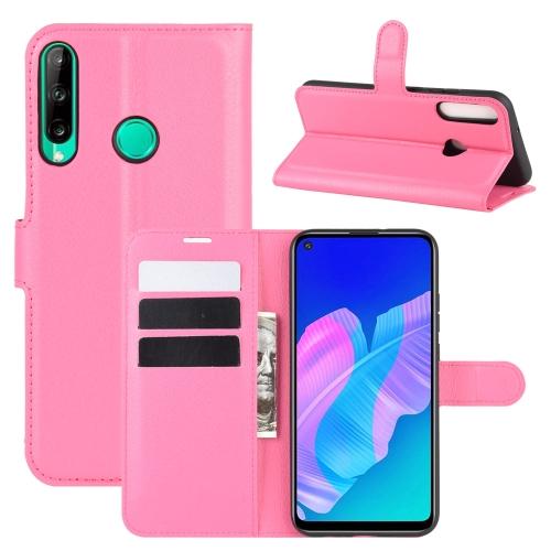 FORCELL LITCHI Peňaženkový kryt Huawei P40 Lite E ružový