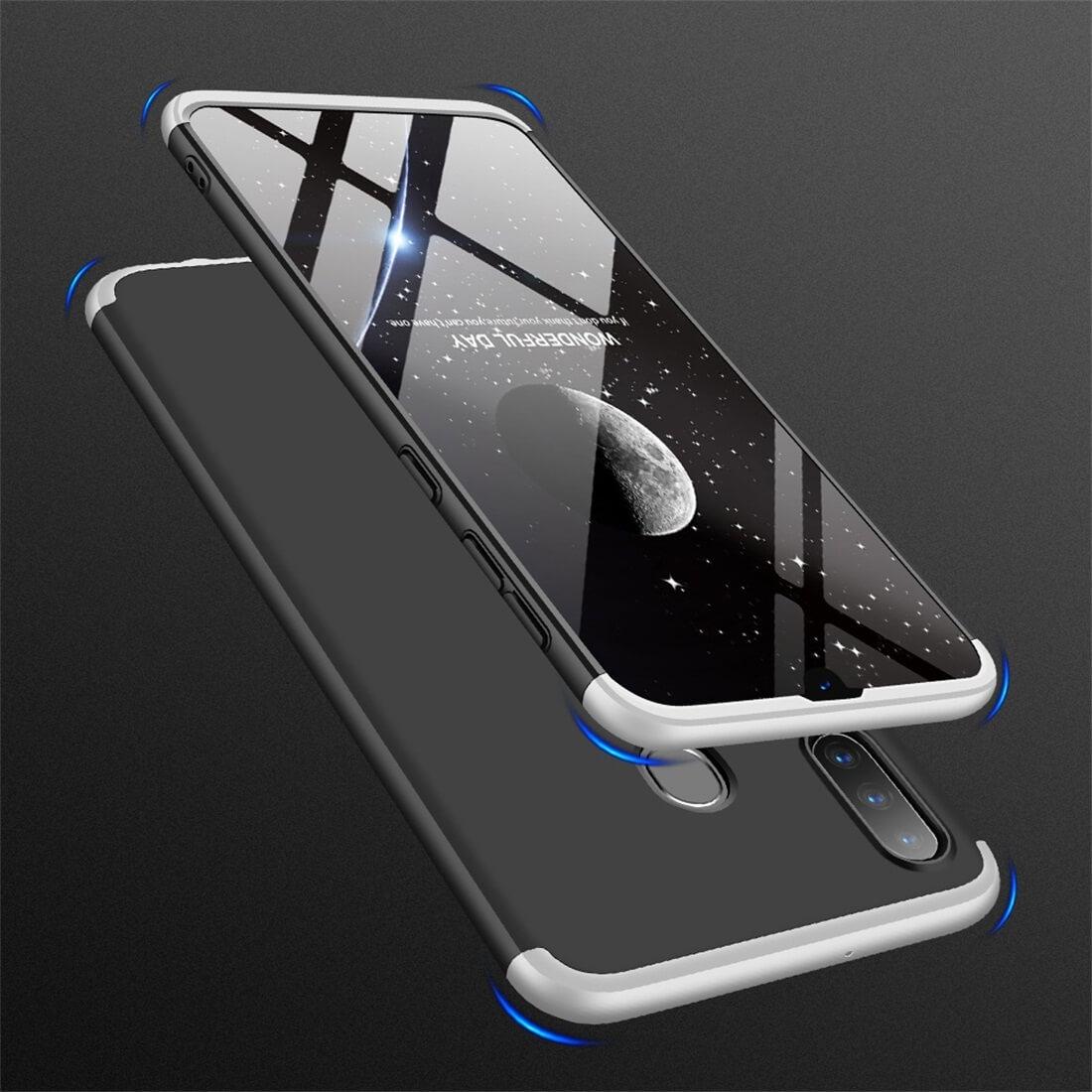 FORCELL 360 ° Ochranný obal Samsung Galaxy A30 černý-stříbrný