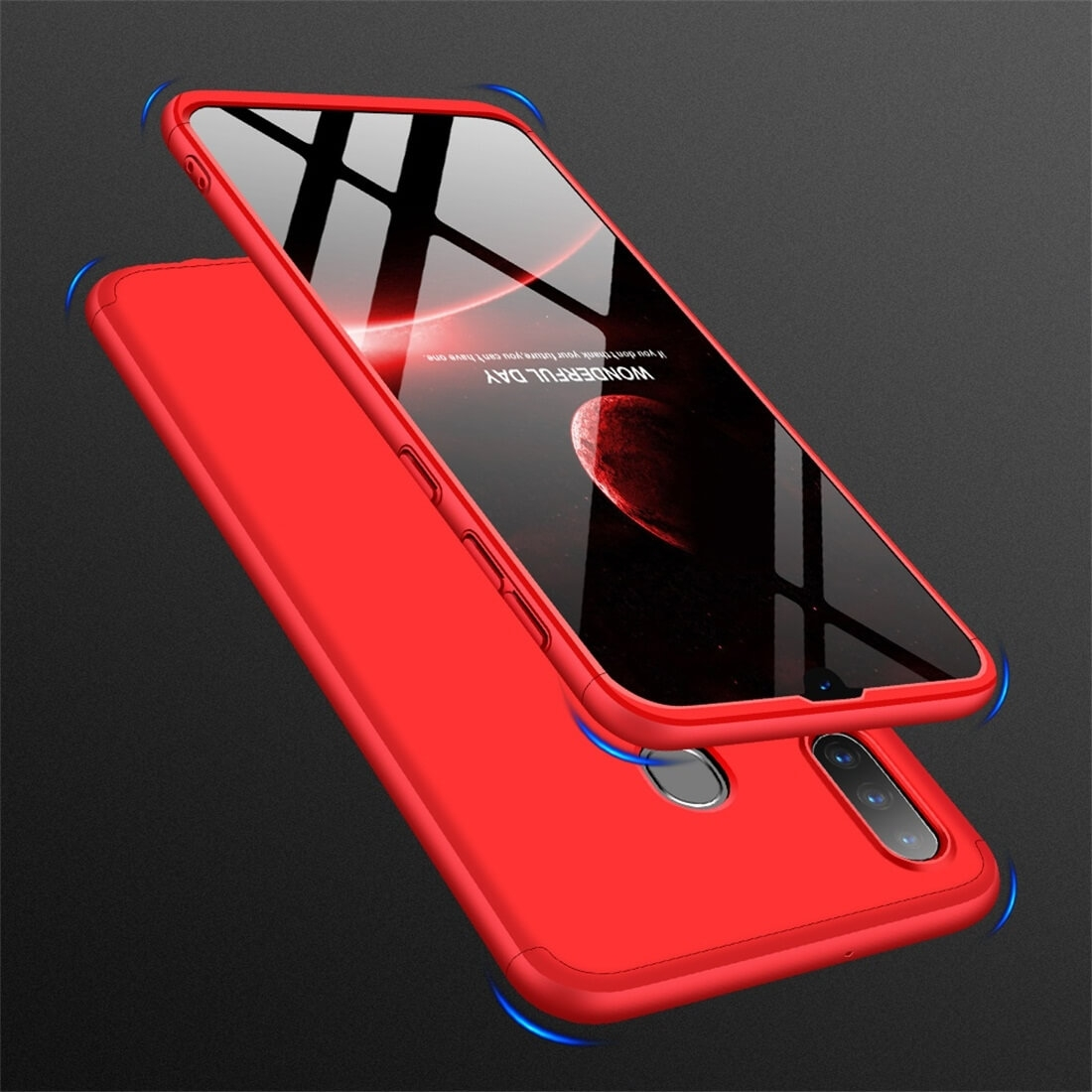 FORCELL 360 ° Ochranný obal Samsung Galaxy A30 červený