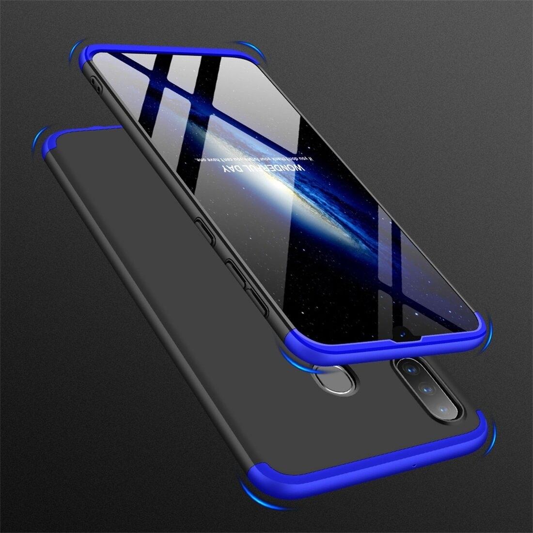 FORCELL 360 ° Ochranný obal Samsung Galaxy A30 černý-modrý