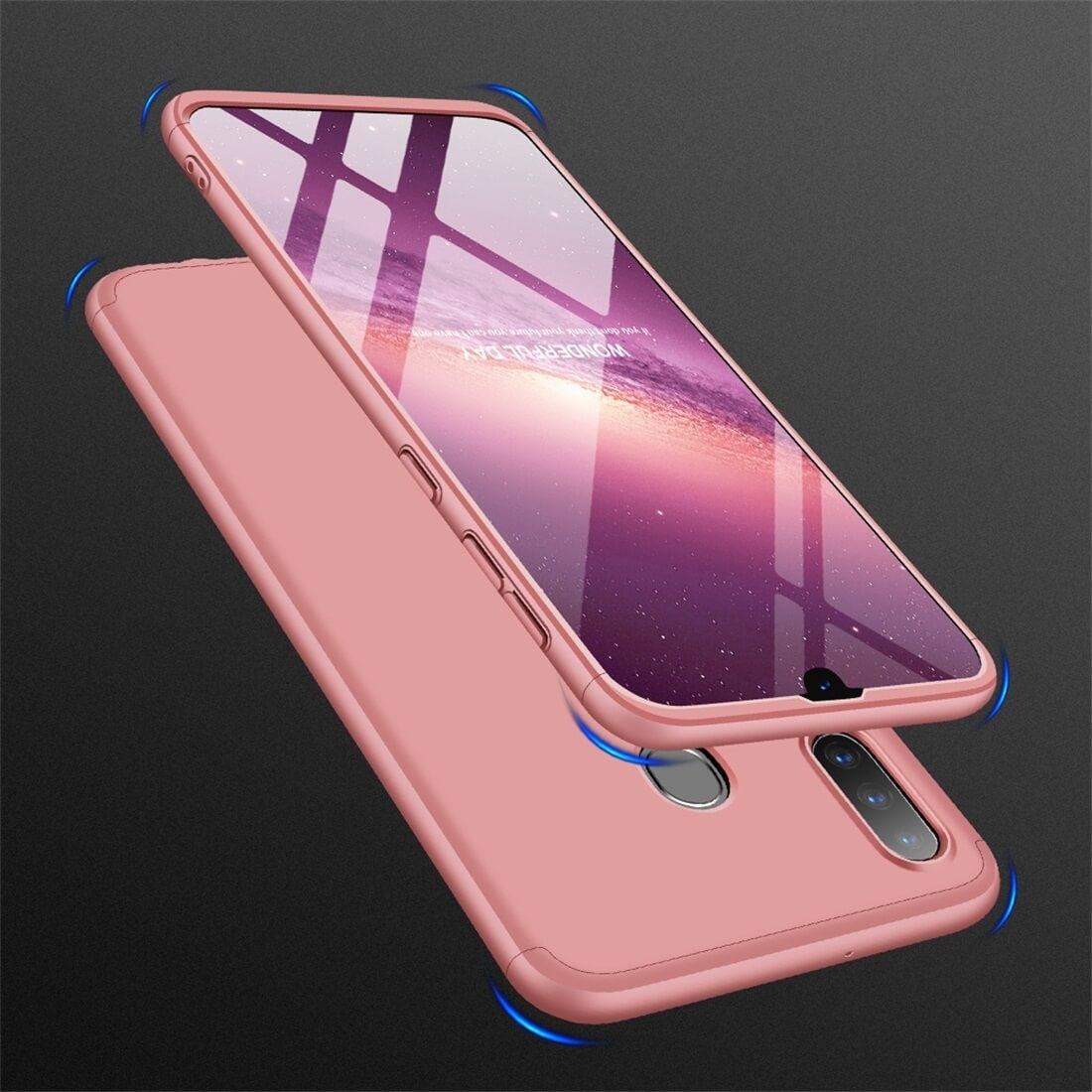 FORCELL 360 ° Ochranný obal Samsung Galaxy A30 růžový