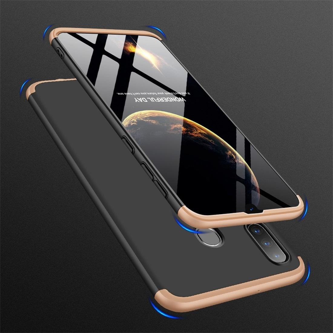 FORCELL 360 ° Ochranný obal Samsung Galaxy A30 černý-zlatý