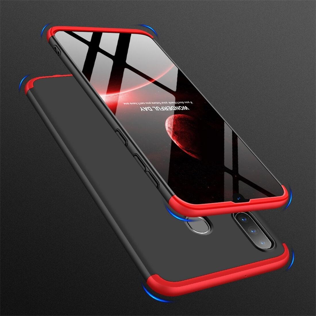 FORCELL 360 ° Ochranný obal Samsung Galaxy A30 černý-červený