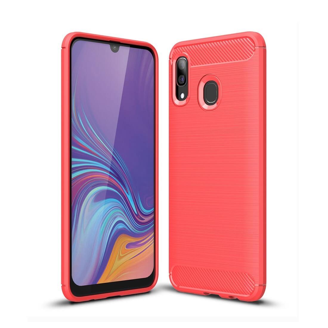 FORCELL FLEXI TPU obal Samsung Galaxy A40 červený